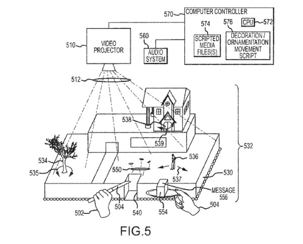 Disney interactive cake patent wired design