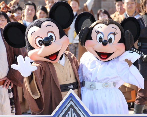 Jedi Mickey & Leia Minnie