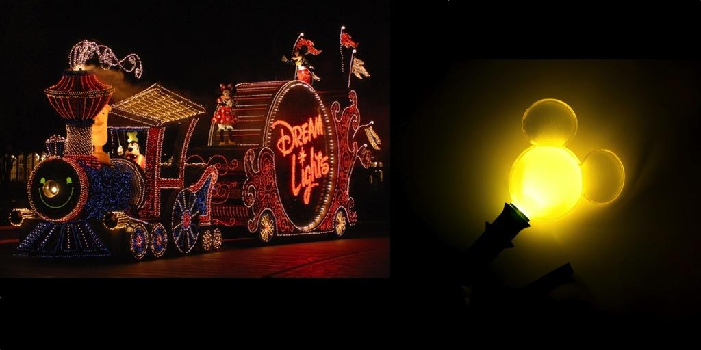 ミッキーのドリームライツ・トレインのフロート通過時 (c)Disney