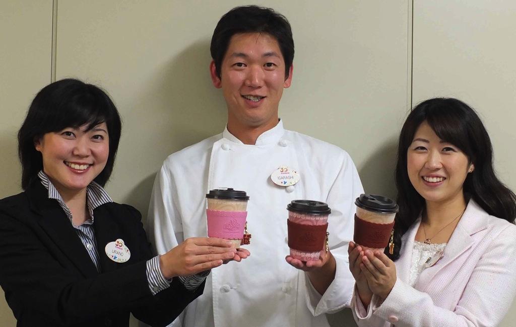 D's Delights プロジェクトチーム 左から浦野さん、五十嵐さん、牛山さん (c)Disney