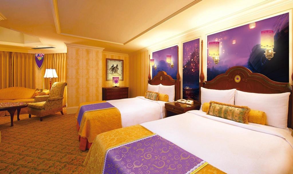 「塔の上のラプンツェル」をテーマにした客室のイメージ (c)Disney