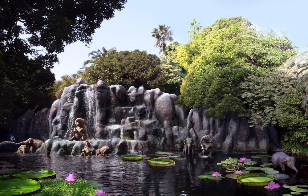ジャングルに住む野生動物たち (c)Disney