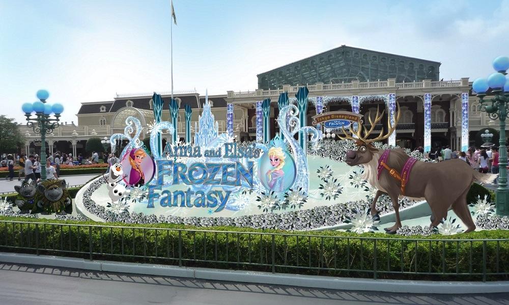 アナとエルサのフローズンファンタジー デコレーション (c)Disney