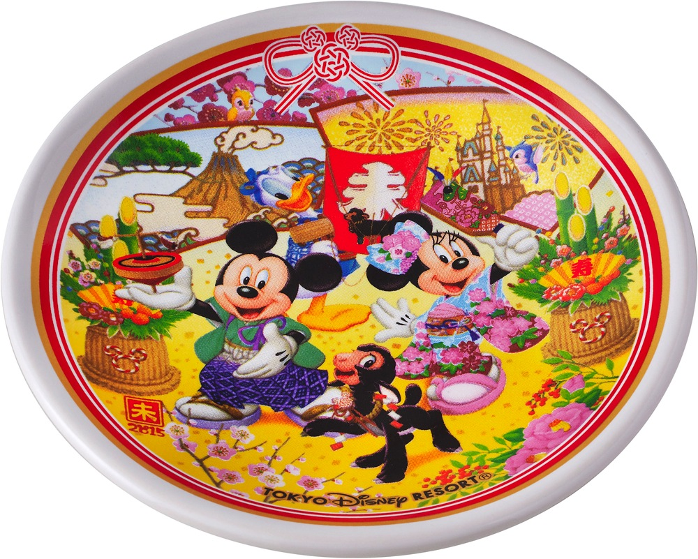 ストロベリークリームまんじゅう、スーベニアプレート(c)Disney