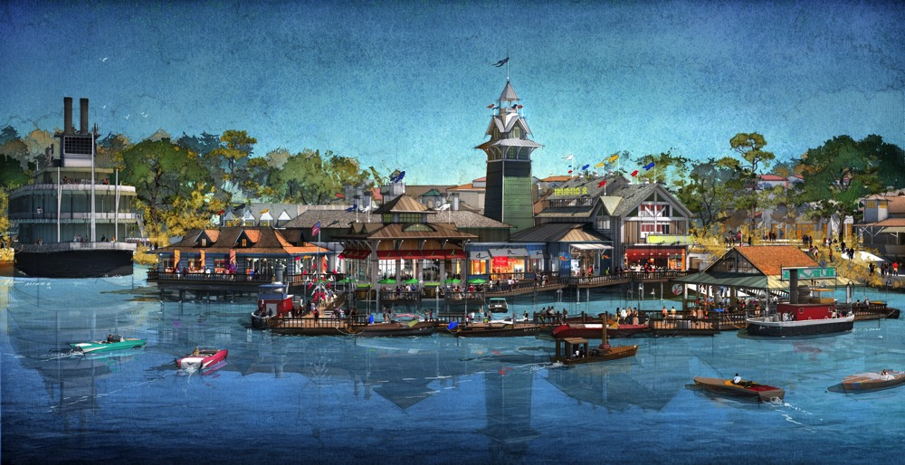 THE BOATHOUSE Waterfront View (c)Disney