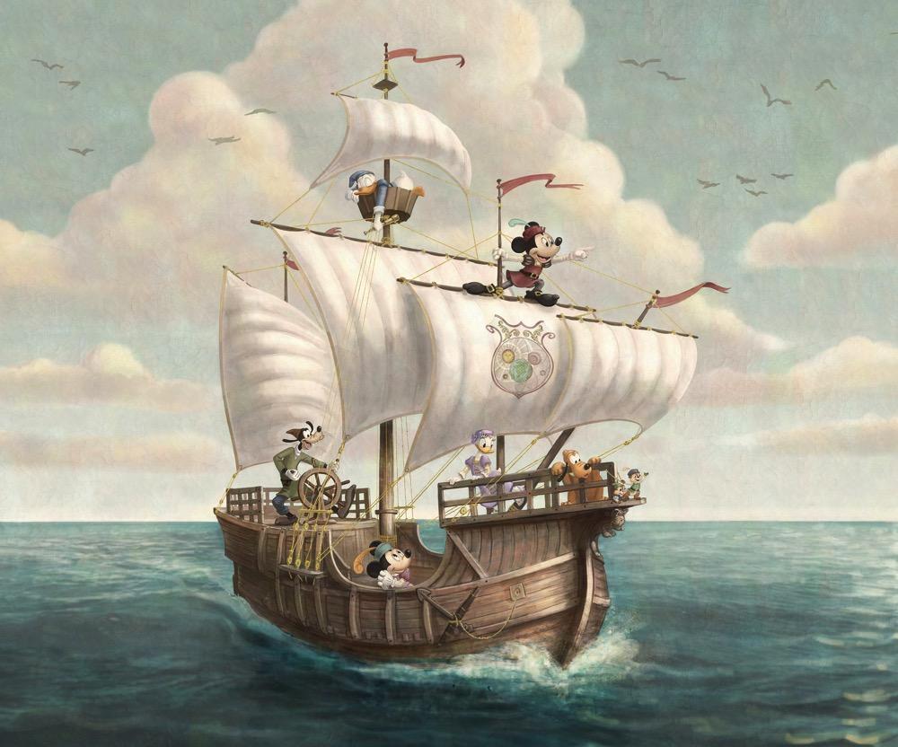 カピターノ ミッキー スーペリアルーム の壁の絵のイメージ (c)Disney