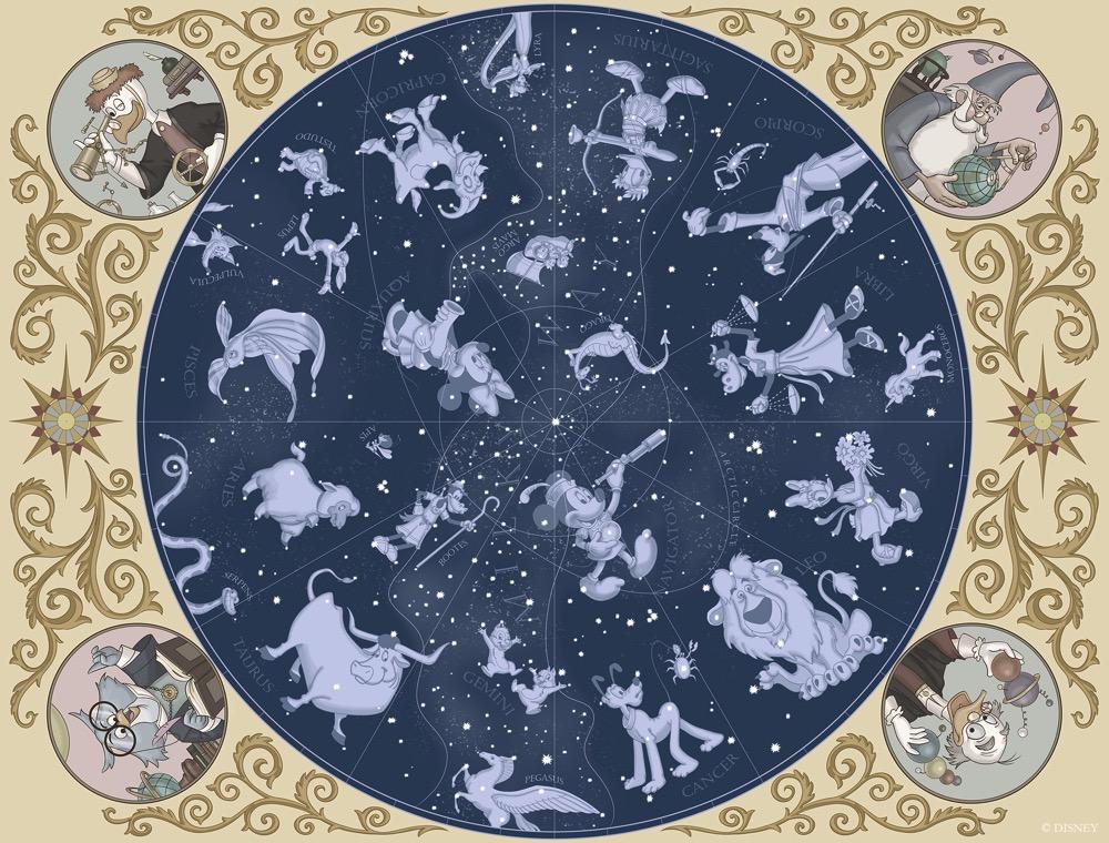 カピターノ ミッキー スーペリアルーム の天井画イメージ (c)Disney