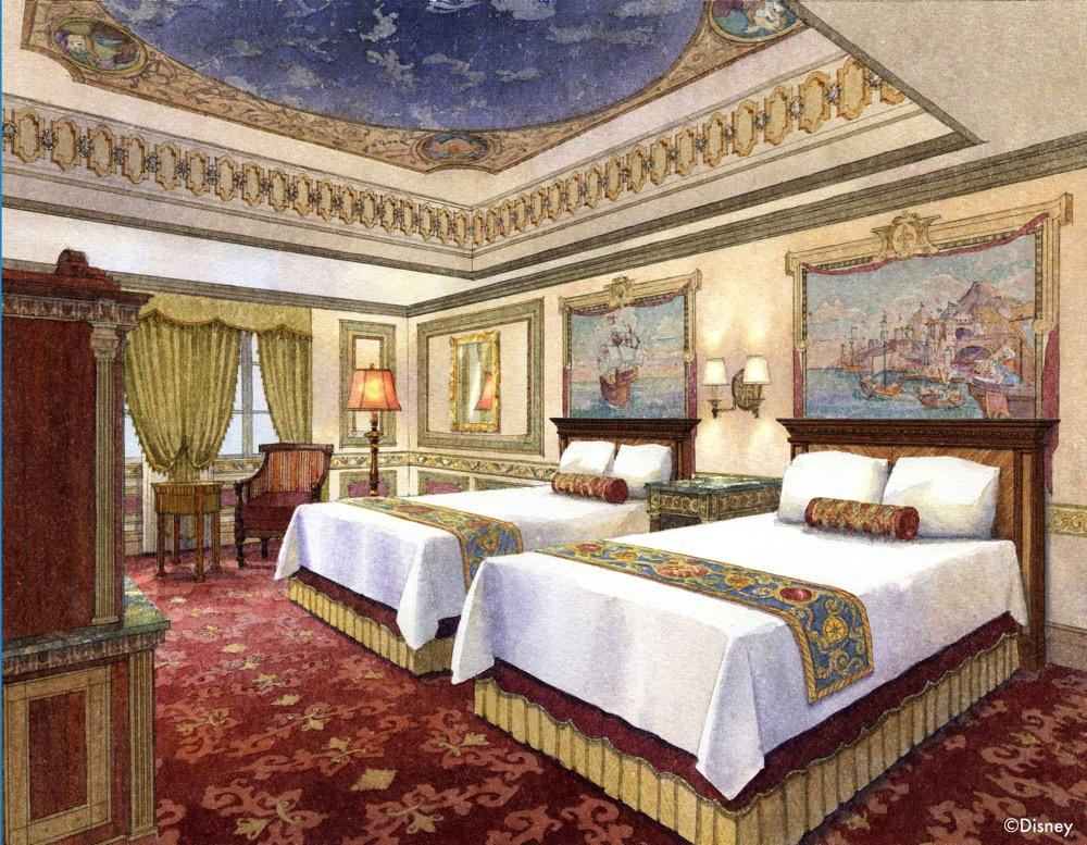 カピターノ ミッキー スーペリアルーム の客室イメージ (c)Disney