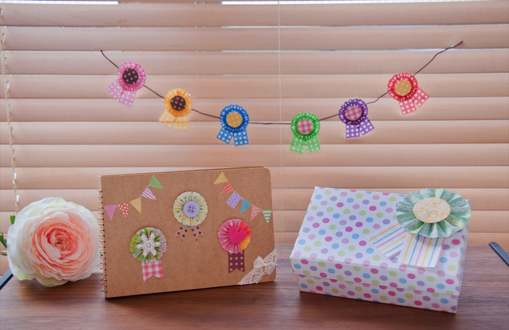 折り紙で作るロゼット (c)Disney