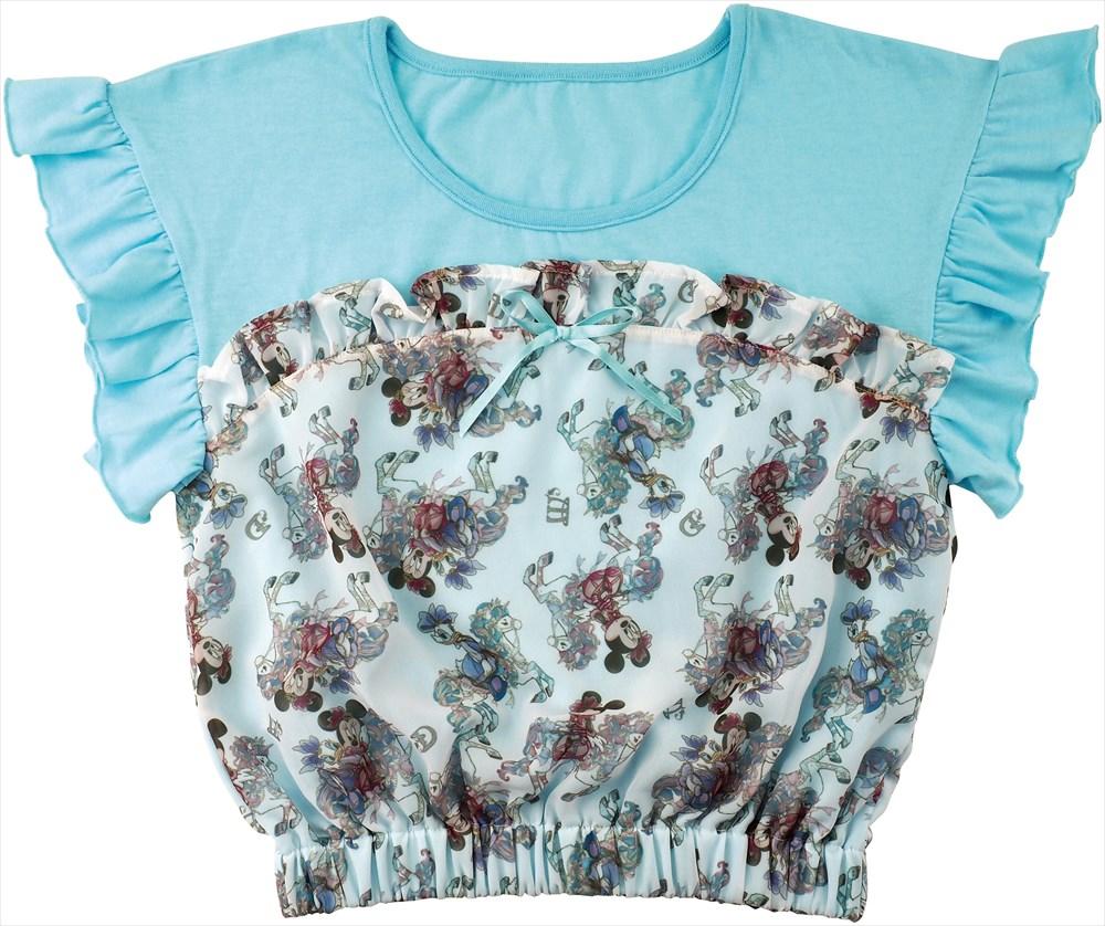 原宿アルタ店限定 フリルTシャツS, M 3900円【700枚限定】 ©Disney
