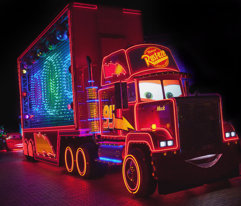Mack Truck in Paint the Night/As to Disney photos, logos, properties: (c)Disney