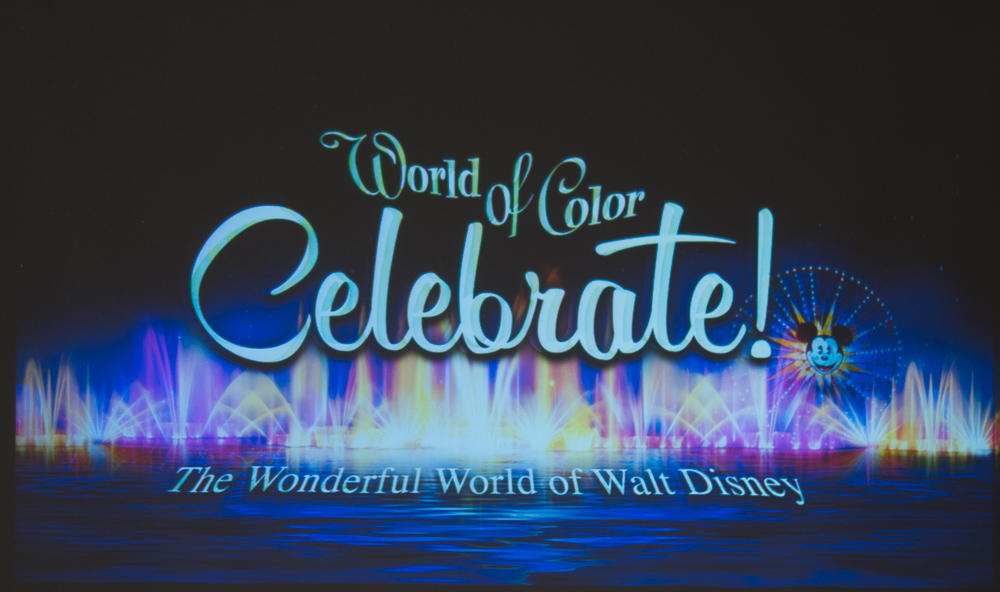 World of Color − Celebrate! ロゴ/As to Disney photos, logos, properties: (c)Disney