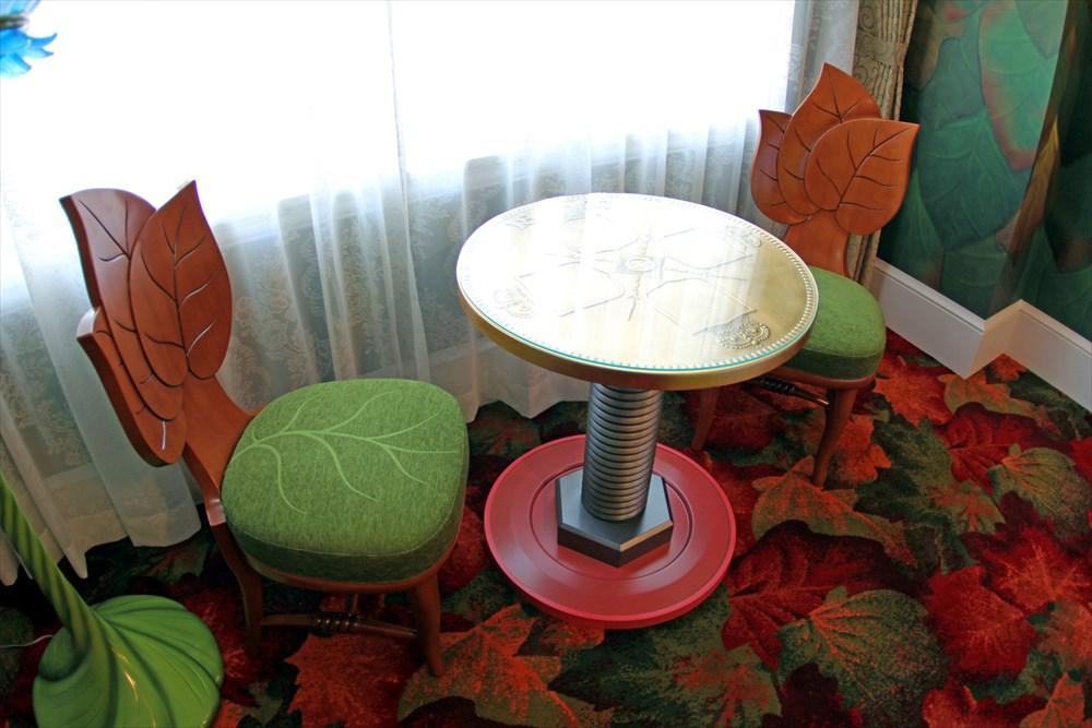 テーブルはボタンとボルト
