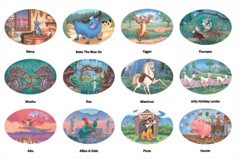 The Twelve Disney Characters of the Chinese Zodiac (c)Disney