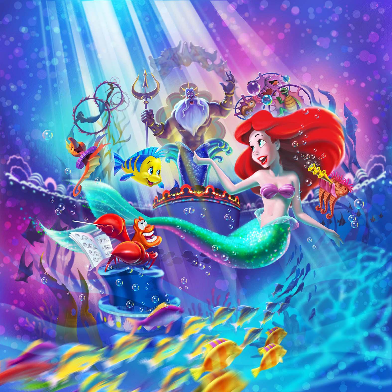 新ミュージカルショー「キング・トリトンのコンサート」イメージ画像 (c)Disney