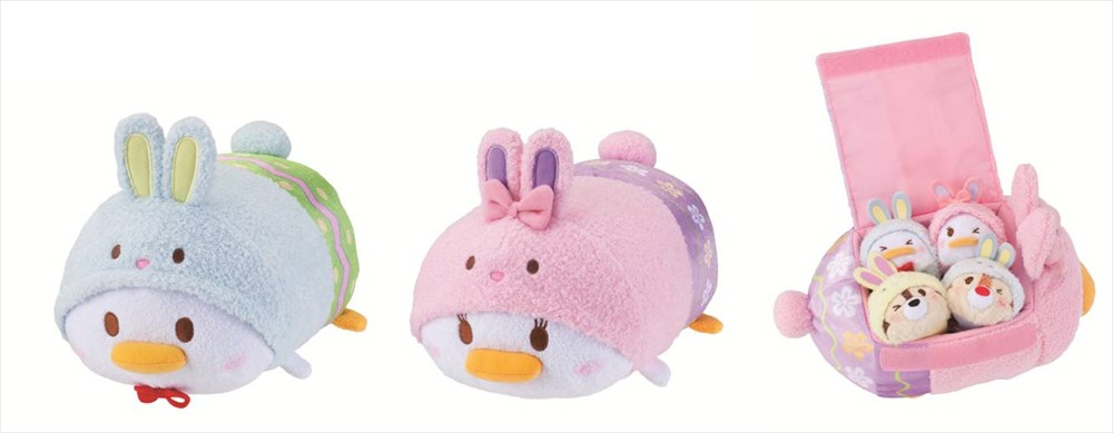 TSUM TSUM M (ドナルド、デイジー)各1800円/BAG TSUMセット 3500円 ©Disney