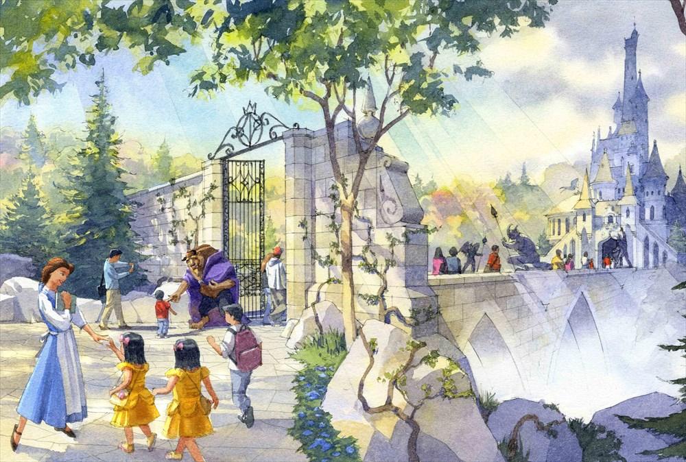 東京ディズニーランド ファンタジーランド 『美女と野獣』をテーマとしたエリア (c)Disney