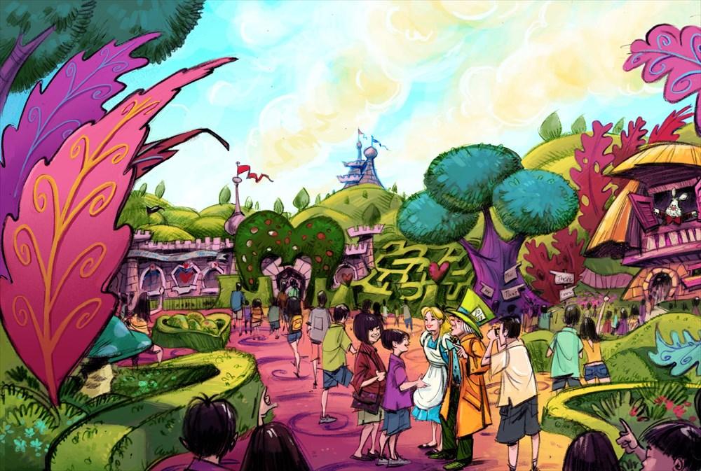 東京ディズニーランド ファンタジーランド 『ふしぎの国のアリス』をテーマとしたエリア (c)Disney