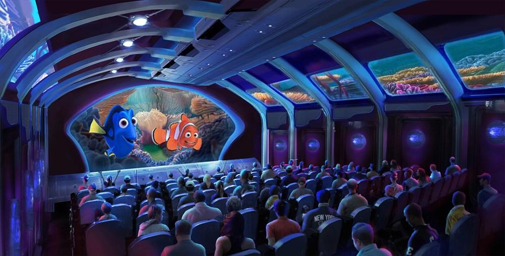 アトラクション内観(イメージ) Artist concept only (C)Disney/Pixar