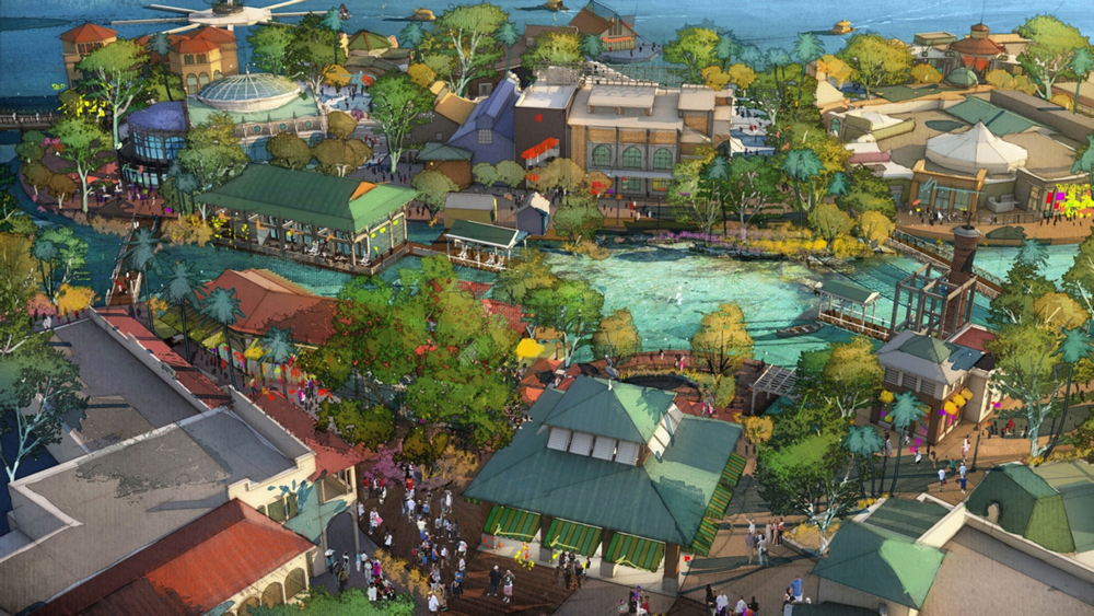 LAKE BUENA VISTA, Fla., March 12, 2013 - With a flowing spring as a centerpiece, Disney Springs will feature four outdoor neighborhoods including the two shown in an artist's conceptual rendering. The Town Center (lower portion of the image) will offer one-of-a-kind shopping and dining experiences along a promenade while The Landing (upper portion of the image) will include inspired dining and beautiful waterfront views. - See more at: http://wdwnews.com/galleries/2015/05/15/disney-springs-renderings-new-retailers/#sthash.g7DwY89y.dpuf