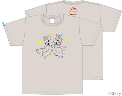 三森すずこオリジナル チップとデールTシャツ ミックスグレー(4000円)