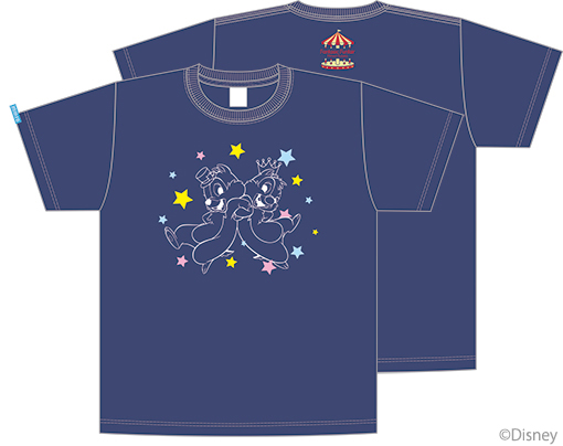三森すずこオリジナル チップとデールTシャツ インディゴ(4000円)