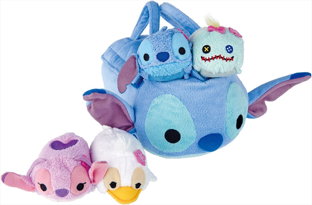 TSUM TSUM  バッグセット(スティッチ、エンジェル、スクランプ、みにくいあひるの子)3500円(税別) (c)Disney