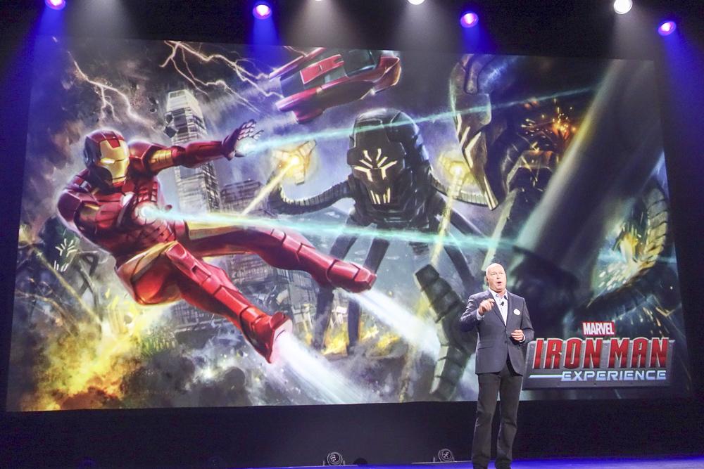 新たに登場する、ディズニーパーク初のマーベルアトラクション「Ironman Experience」
