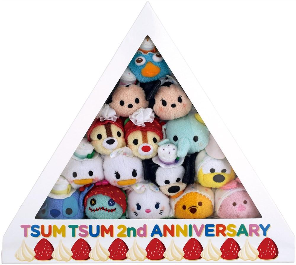TSUM TSUM 2周年アニバーサリーセット (上から:ペリー/ミッキー/ミニー/チップ/デール/ダンボ/ドナルド/デイジー/グーフィー/プルート/スティッチ/スクランプ/マリー/プー/ピグレット) (c)Disney