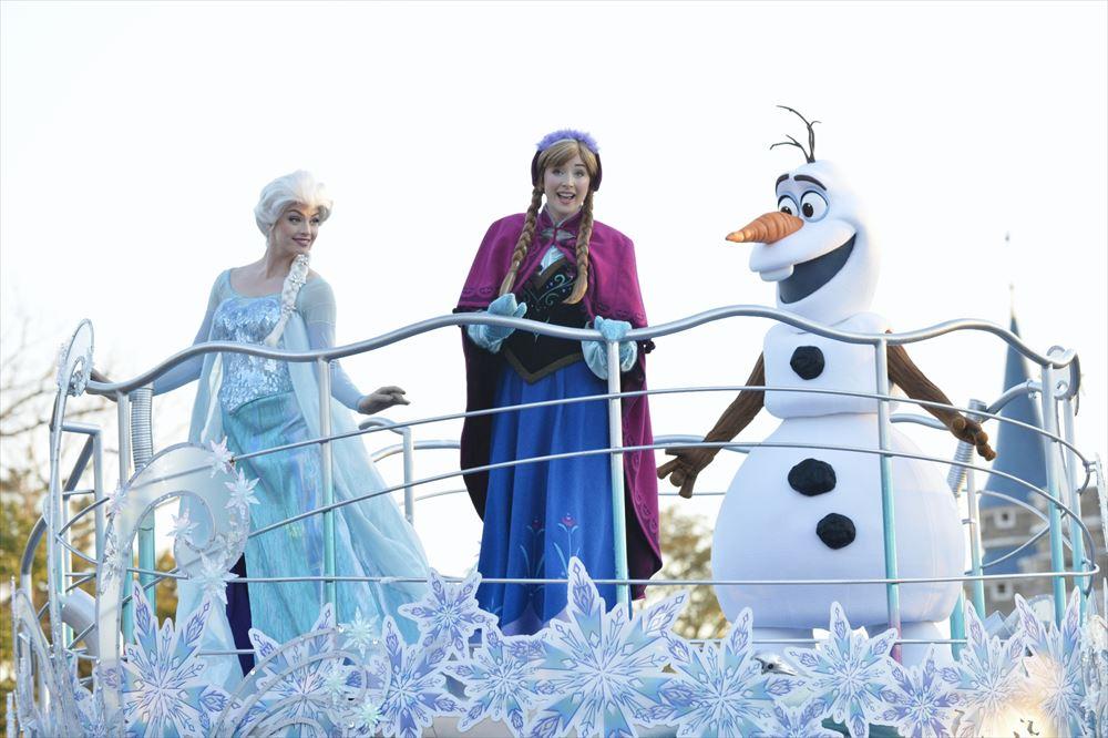 アナとエルサのウィンターグリーティング (イメージ) (c)Disney