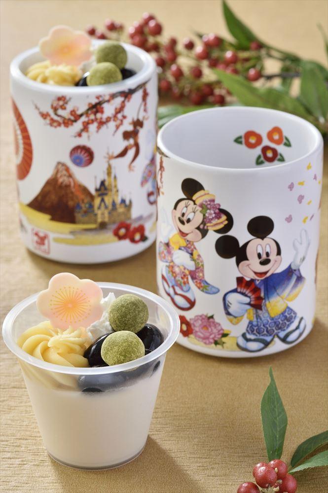 黒豆&セサミムース、スーベニアカップ付き 720円 (c)Disney