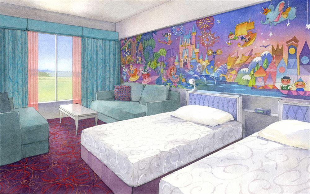 「東京ディズニーセレブレーションホテル:ウィッシュ」客室のイメージ (c)Disney