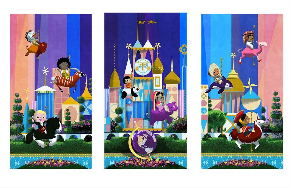 「東京ディズニーセレブレーションホテル:ウィッシュ」ロビーのアート (c)Disney