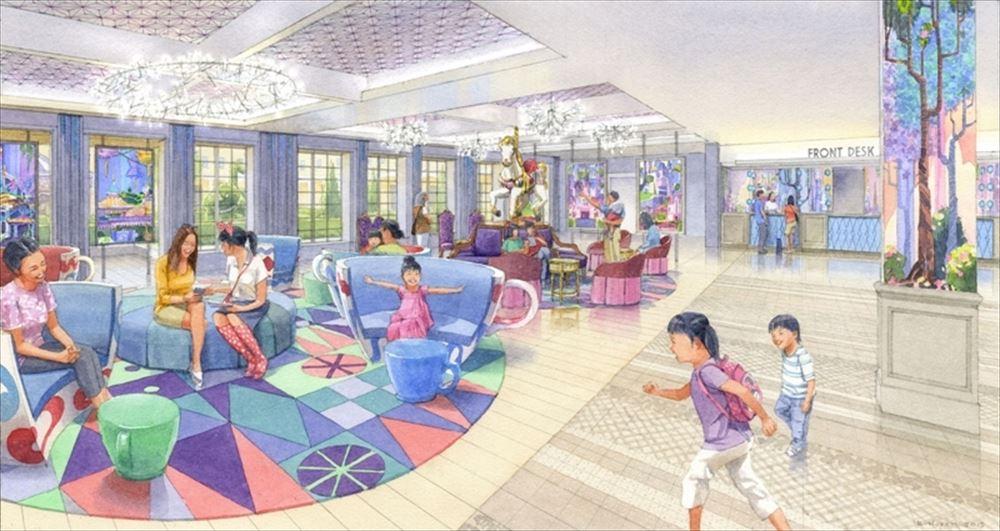 「東京ディズニーセレブレーションホテル:ウィッシュ」ロビーのイメージ (c)Disney
