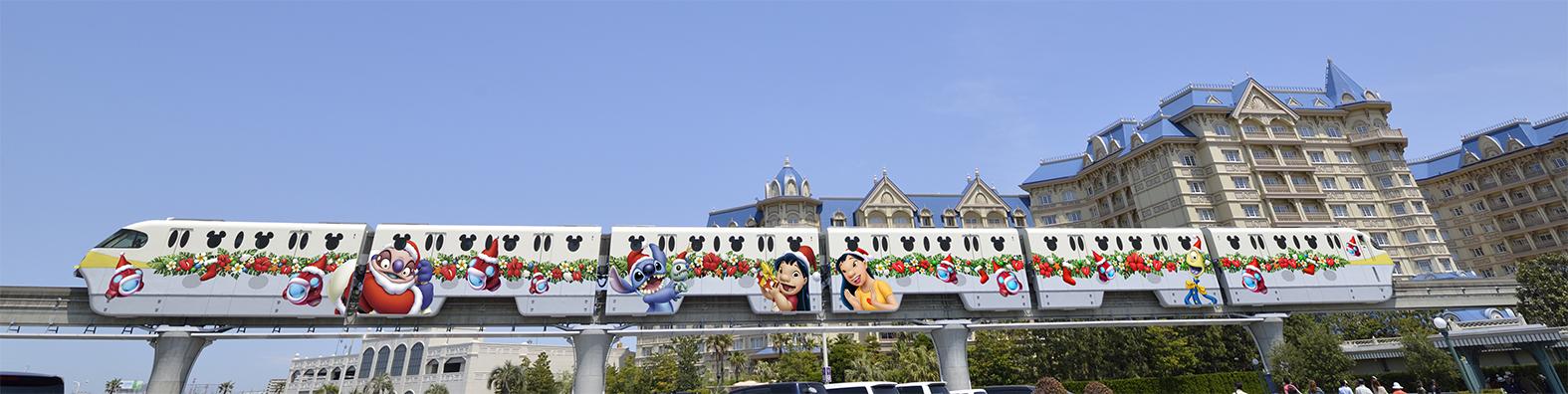 スティッチ・エンカウンター・ライナー モノレール車外全車両(イメージ) (c)Disney