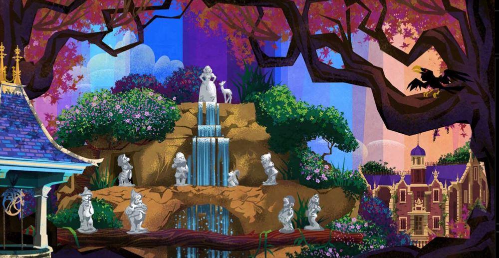 「東京ディズニーセレブレーションホテル:ウィッシュ」ゲストサービス裏のアート (c)Disney