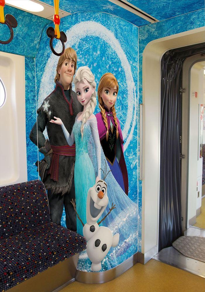 「アナとエルサのスノークリスタル・ライナー」内装デコレーション(イメージ) (c)Disney