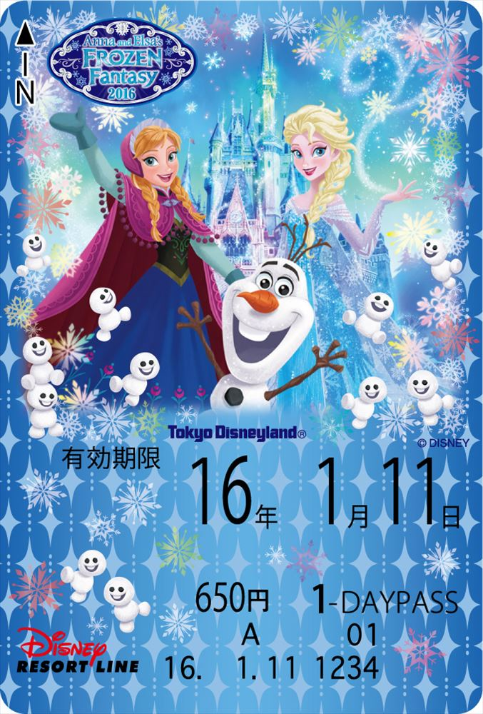 フリーきっぷ(イメージ) (c)Disney