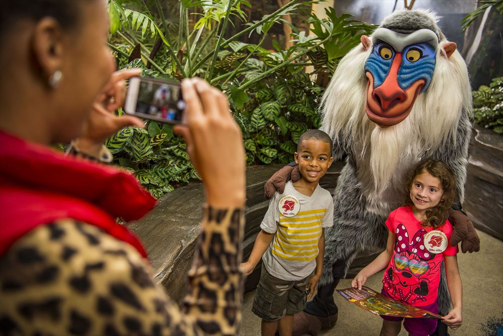 """Young explorers have the chance to participate in a new quest to become honorary members of the Lion Guard with the new Lion Guard Adventure at Disney's Animal Kingdom. The adventure, inspired by Disney Junior's animated series """"The Lion Guard,"""" sends guests on an exciting search for the five Lion Guard character statues hidden in themed locations throughout the park. Youngsters learn about animals and the Circle of Life as they follow the Lion Guard Adventure Map. The expedition concludes at Rafiki's Planet Watch with a photo opportunity with Rafiki, as well as a Lion Guard button, special pledge, and fun activities. The Lion Guard Adventure is included in Disney's Animal Kingdom admission. Disney's Animal Kingdom is located at Walt Disney World Resort in Lake Buena Vista, Fla. (David Roark and Matt Stroshane, photographers)"""