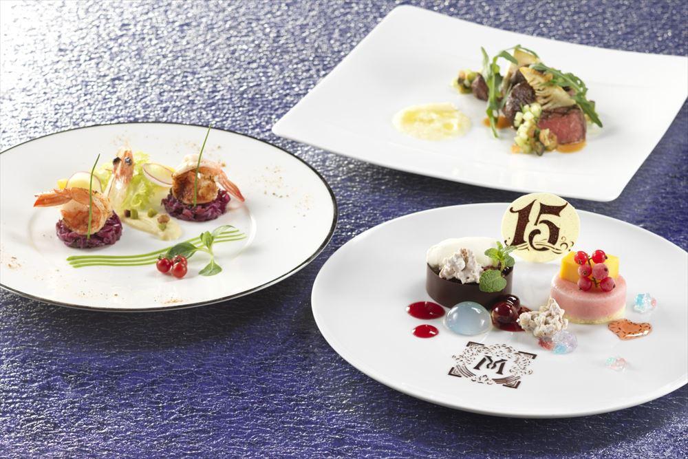 「ベッラヴィスタ・ラウンジ」東京ディズニーシー・ホテルミラコスタ 15thアニバーサリー ランチコース (c)Disney