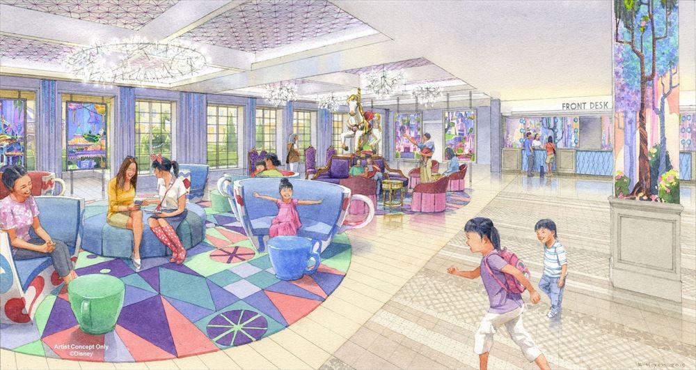 東京ディズニーセレブレーションホテル:ウィッシュ ロビーのイメージ (c)Disney