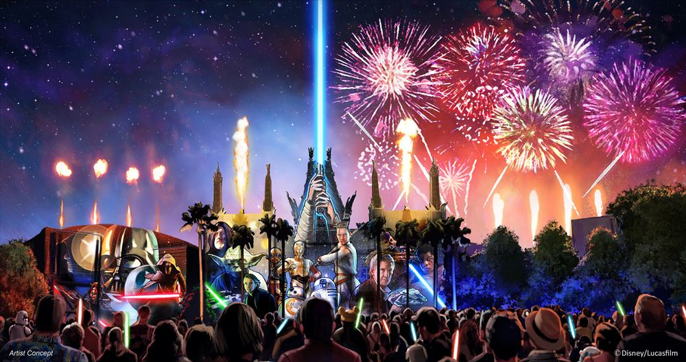 Starting in summer 2016, a new Star Wars fireworks show,