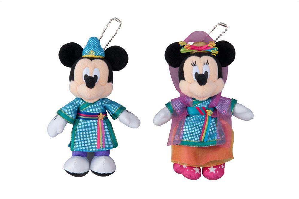 ペアぬいぐるみバッジ 3000円 (c)Disney