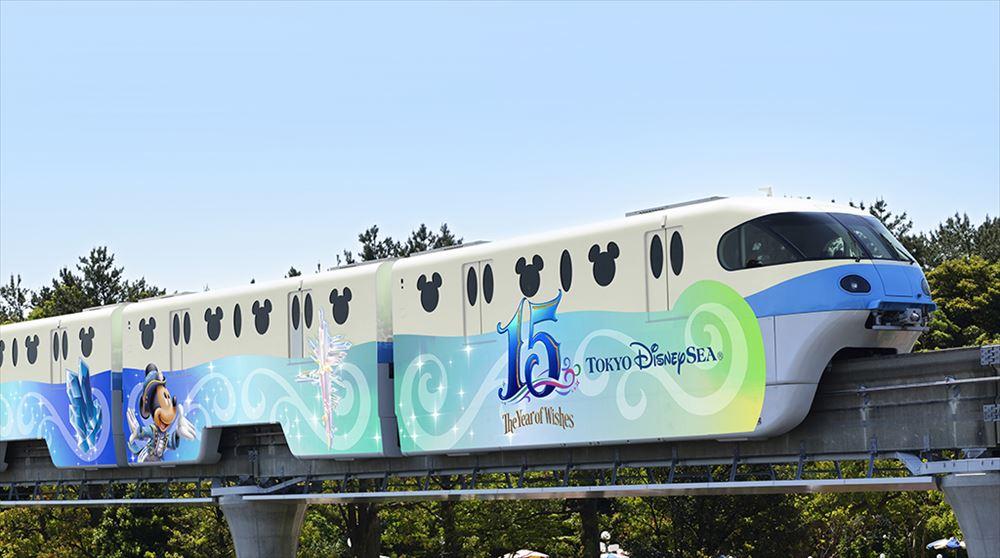 モノレール外装(ブルー) (c)Disney