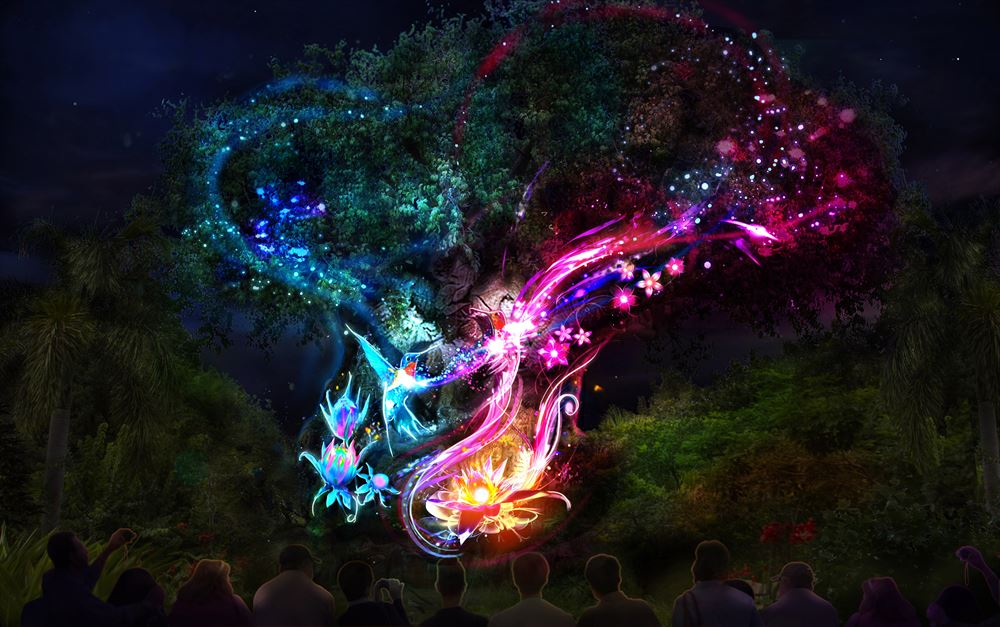 The Tree of Life at Disney's Animal Kingdom — Nighttime Artist Concept (c)Disney
