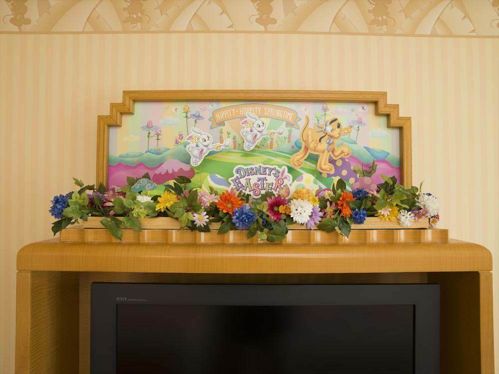 """""""ディズニー・イースター""""デコレーションの客室 テレビ (c)Disney"""