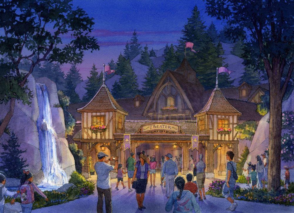 ライブエンターテイメントシアターの外観  (c)Disney