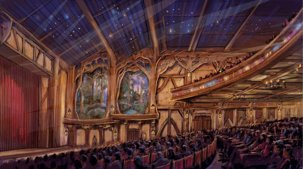 ライブエンターテイメントシアターの内観   (c)Disney