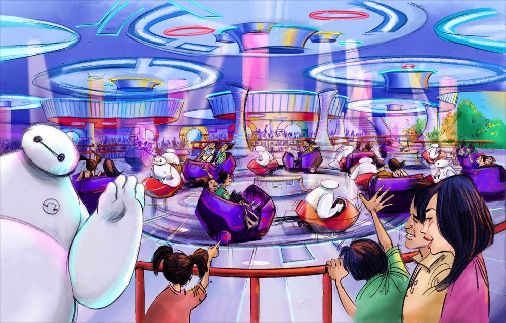 『ベイマックス』をテーマにした新アトラクションの体験シーン  (c)Disney