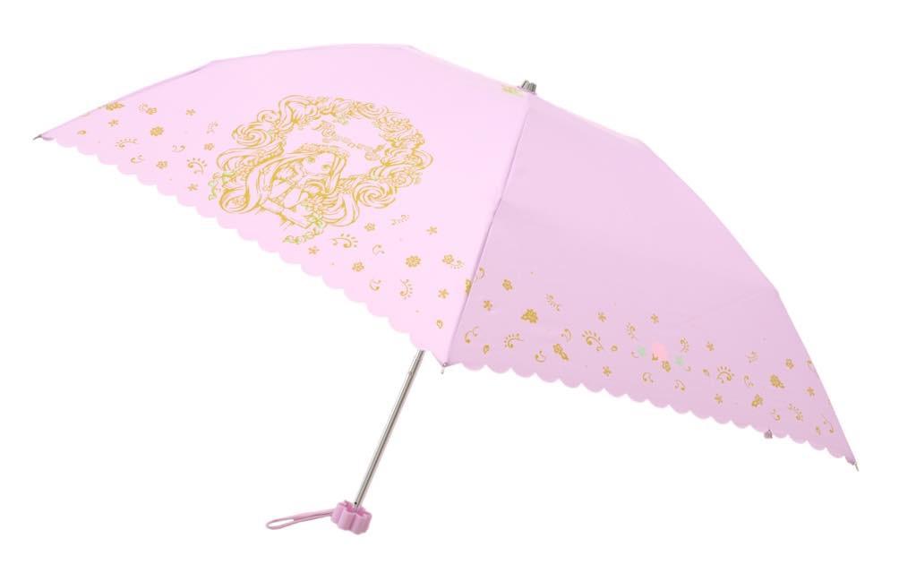 晴雨兼用傘(折りたたみ)[ラプンツェル柄] 4200円 (c)Disney
